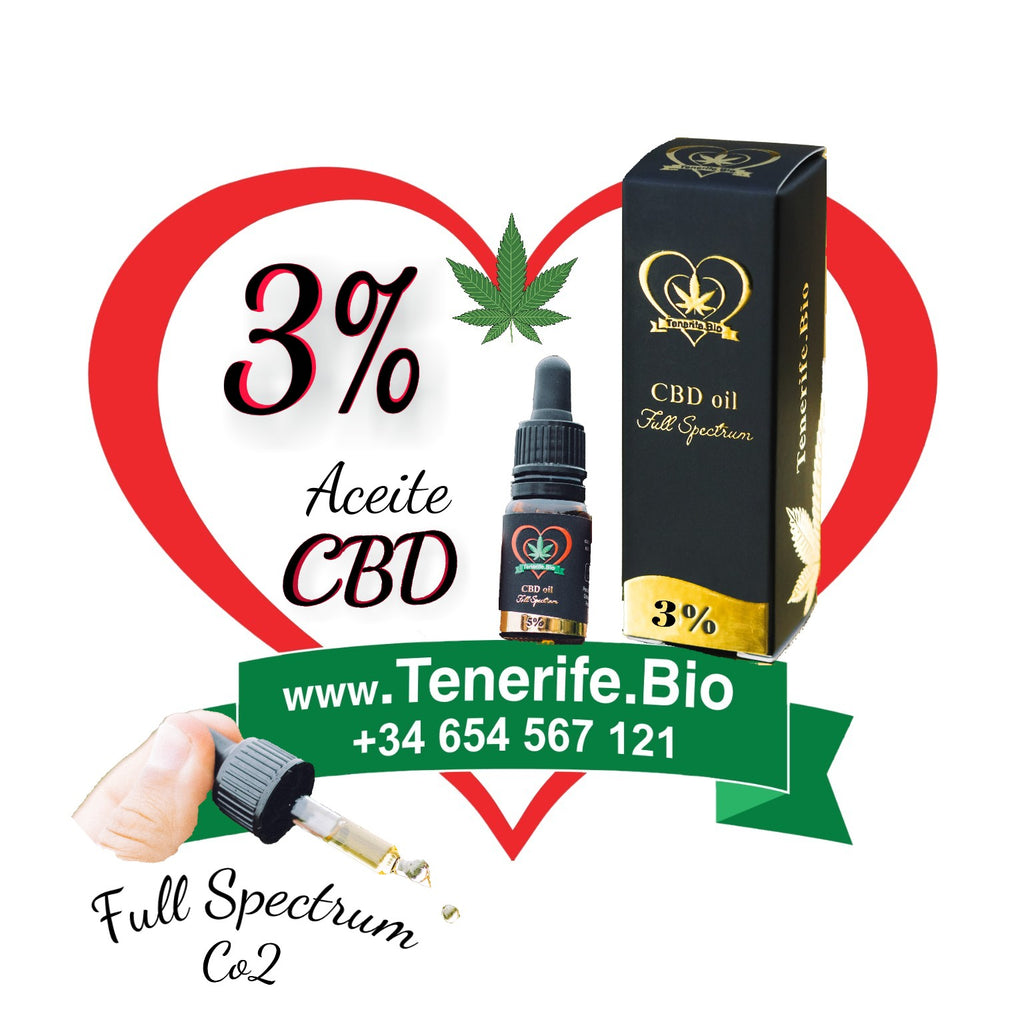 Aceite CBD 3% full spectrum (extracción Co2 MTC)