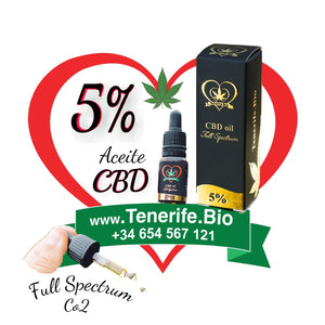 Aceite CBD 5% full spectrum (extracción Co2 MTC)
