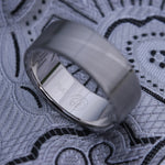 7mm or 8mm Damascus steel ring Platinum & Stainless Damascus damasteel ring natural woodgrain pattern  (customizable)