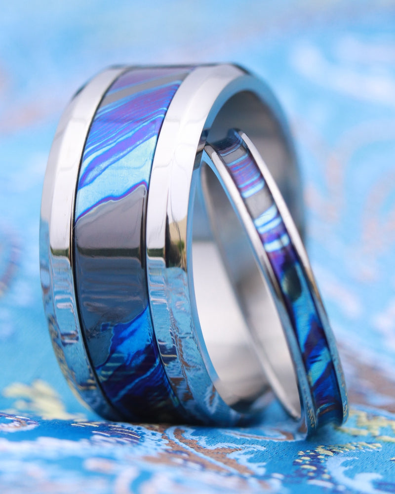 His & hers Grayson Ring set - ZrTi his and hers ring set (Grayson Blue)