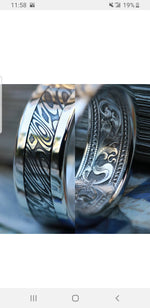 The Platinum Paragon Series - hand engraved solid platinum ring