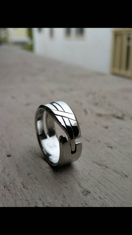 "27 ""LOAM"" handmade stainless steel ring (not casted) cross ring religious rings christian ring"