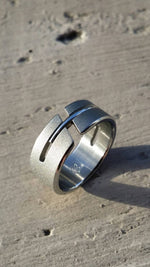 "11 ""DEBONAIR"" handmade stainless steel ring (not casted) hypoallergenic mens rings wedding band mens rings"