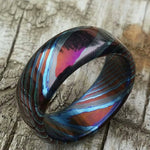 LIMITED EDITION***Solid Black Timascus ring 3mm - 9mm wide timascus ring, mokuti ring zirconium ring titanium ring mens ring