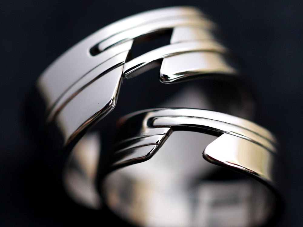 "His & Her's ""APPROXI"" set muliple options available  (hypoallergenic- handmade) stainless steel his and hers ring set womens rings"