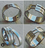 "08 ""VIADUCT"" handmade stainless steel ring (not casted) mens rings wedding band custom jewelry"