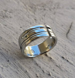 "06 ""AMOUR"" handmade stainless steel ring (not casted) cross ring, calvary"