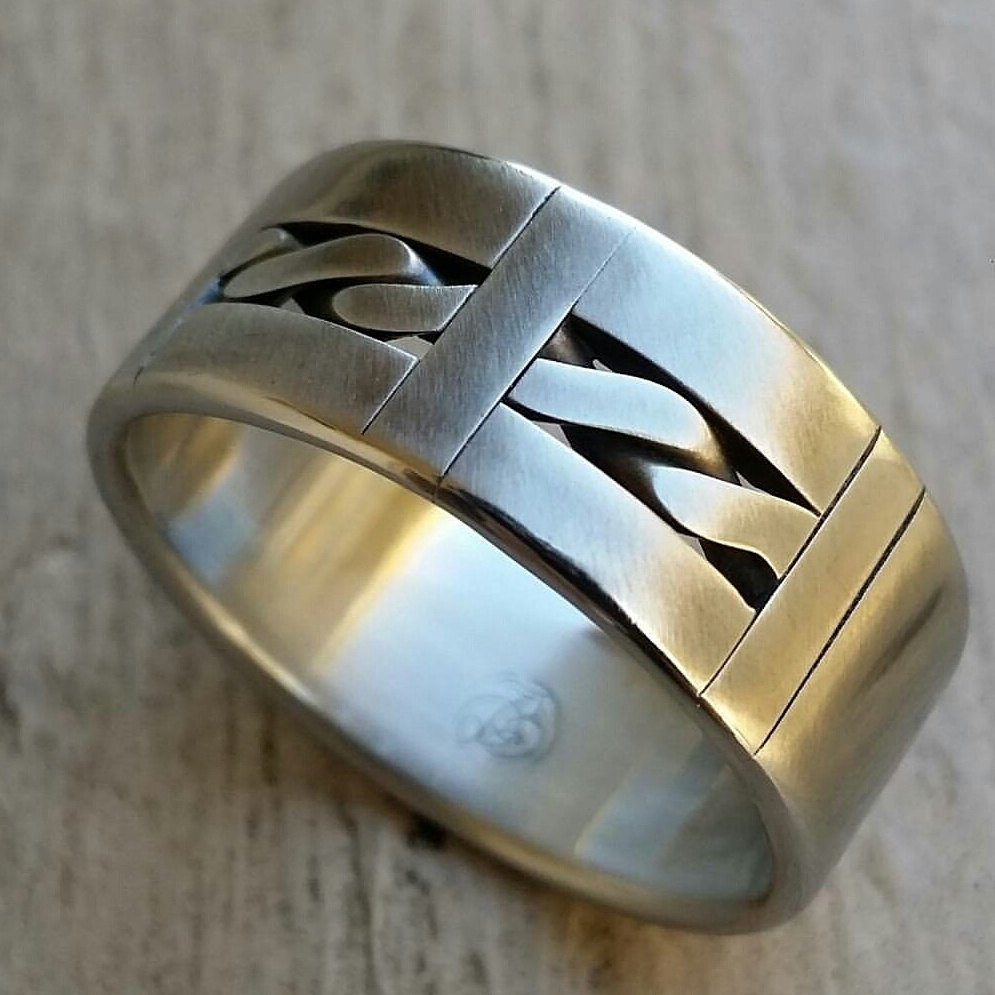 "12 ""PANG"" handmade stainless steel ring (not casted) celtic ring mens rings wedding band"
