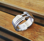 "13 ""OAK"" handmade stainless steel ring (not casted) mens wedding band hypoallergenic custom rings mens rings"