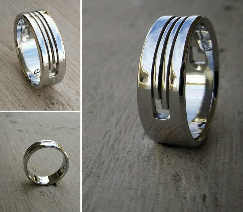 "10 ""SOLIDARITY"" handmade stainless steel ring (not casted) hypoallergenic mens rings wedding band mens jewelry"