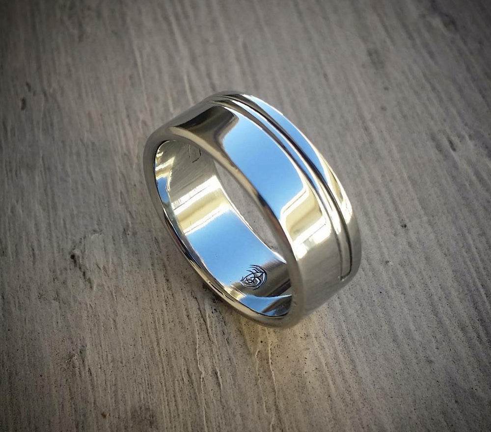 "09 ""EQUIPOISE"" handmade stainless steel ring (not casted) hypoallergenic wedding band mens rings"