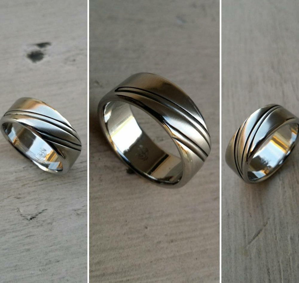 "20 ""DAPPER"" handmade stainless steel ring (not casted)"