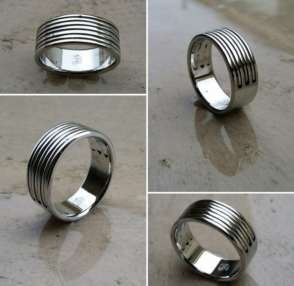 "29 ""TRIPLEX"" handmade stainless steel ring (not casted) womens jewelry hypoallergenic rings"