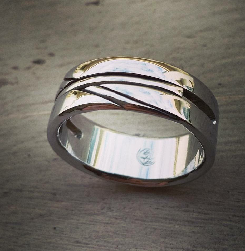 Unisex stainless ring, handmade ring hypoallergenic wedding band