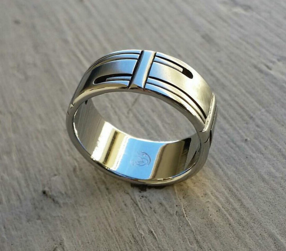 "25 ""CASK"" handmade stainless steel rings (not casted) hypoallergenic mens rings wedding band"