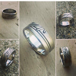 "24 ""WADE"" handmade stainless steel ring (not casted) hypoallergenic mens rings wedding band mens jewelry"