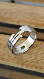 "13.5 ""OAK"" womens handmade stainless steel ring (not casted) womens jewelry hypoallergenic rings"