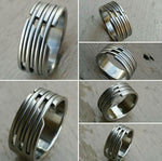 "19 ""CHIC"" handmade stainless steel ring (not casted) hypoallergenic mens rings wedding band mens jewelry"