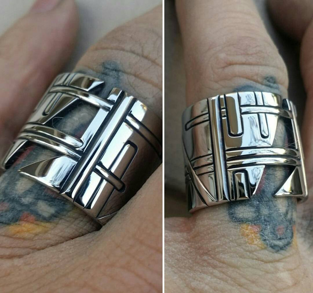 Custom requests completely handmade stainless steel rings (not casted)