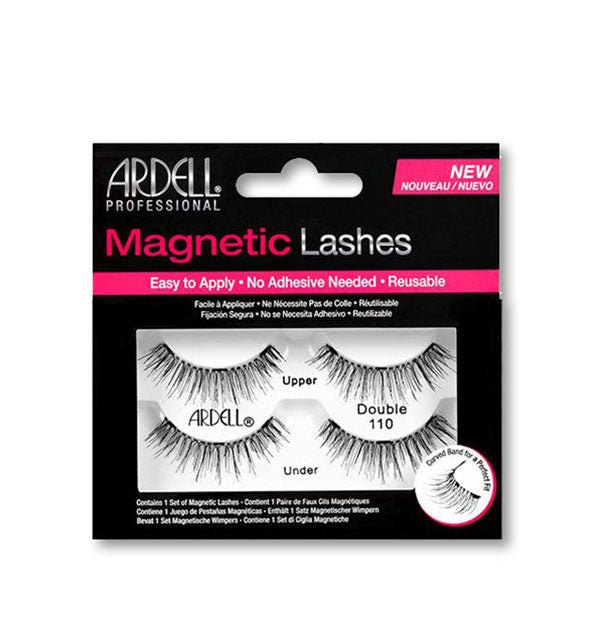 Black Magnetic Reusable Lashes #110
