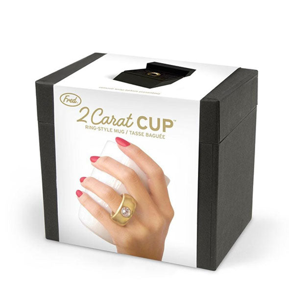 Box packaging for the 2 Carat Cup Ring-Style Mug by Fred