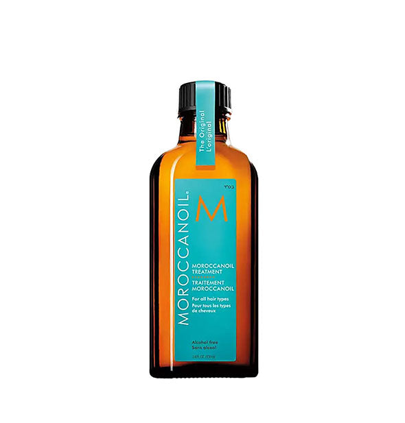 3.4 ounce bottle of Moroccanoil original treatment oil