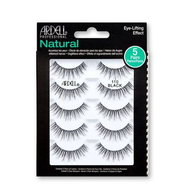 5 pack of black fake lashes #110
