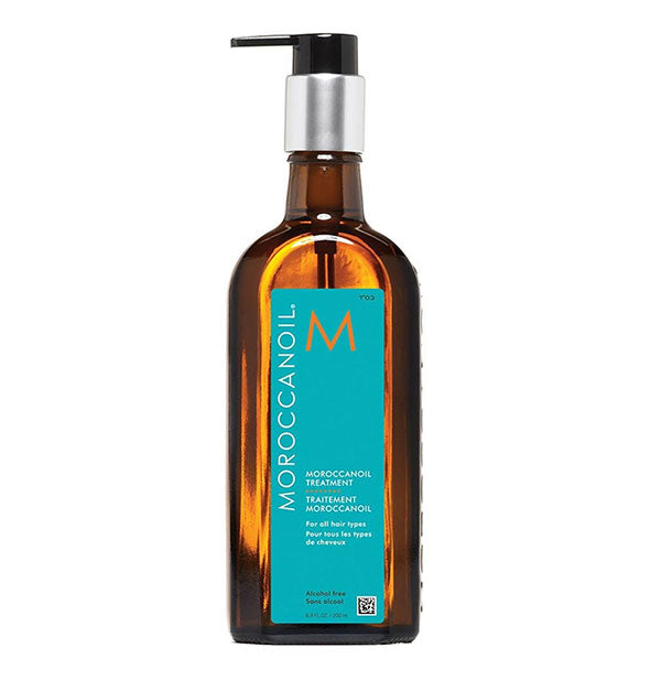 treatment oil for hair with pump