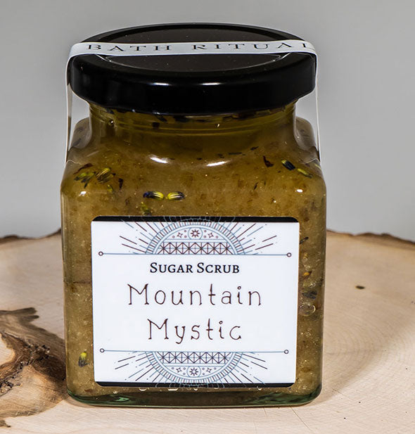 A jar of Sugar Scrub MOUNTAIN MYSTIC