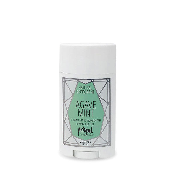 Aluminum-Paraben-Soy Free AGAVE MINT Natural Deodorant 2.65 Oz by Primal Elements