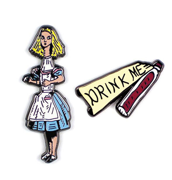 The Unemployed Philosophers Guild - Alice In Wonderland Drink Me Enamel Pins (4460655312966)