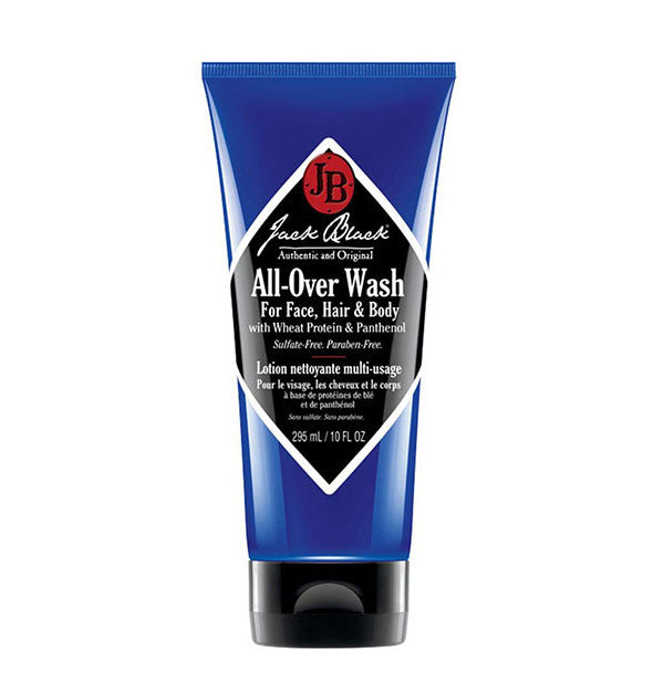 10-ounce bottle of Jack Black All-Over Wash for Face, Hair & Body