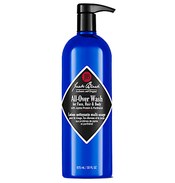 33-ounce bottle of Jack Black All-Over Wash for Face, Hair & Body