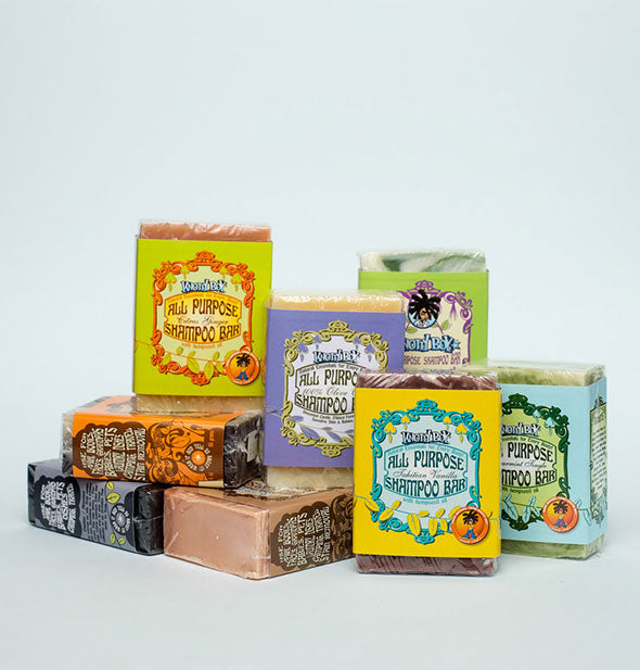 All Purpose Shampoo Bars in various fragrances