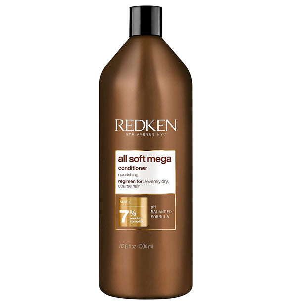 33.8 ounce bottle of Redken All Soft Mega Conditioner