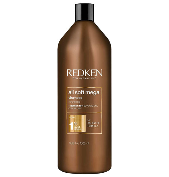 33.8 ounce bottle of Redken All Soft Mega Shampoo