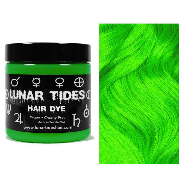 semi permanent hair dye in aurora green