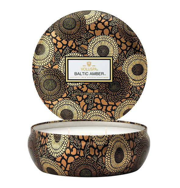 Voluspa - Baltic Amber 3-Wick Decorative Candle 12 Oz - 40 hour burn time