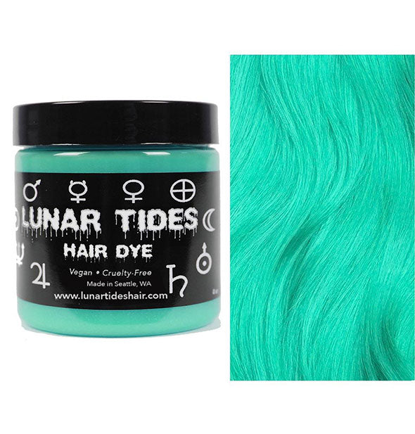 semi permanent hair dye in beetle green