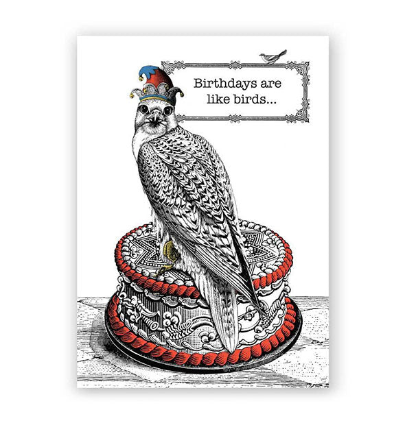 The Birthdays Are Like Birds Card