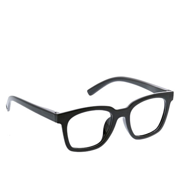 Angled view of Peepers To the Max Readers in Black.