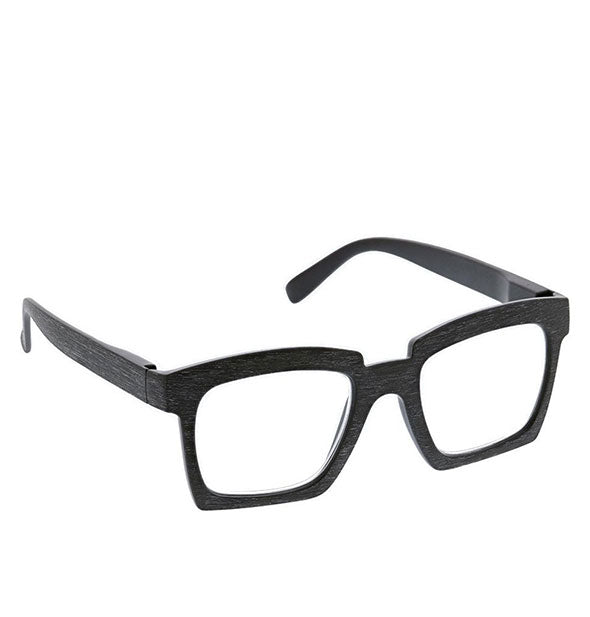 Angled view of Peepers Standing Ovation Readers in Black.