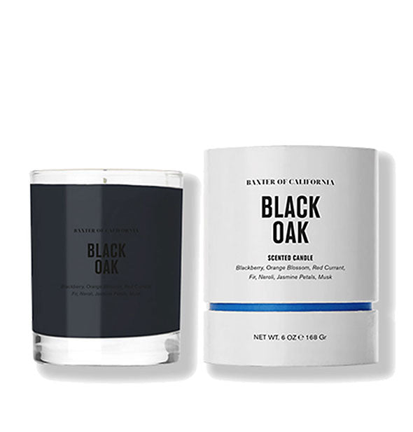 Black Oak Coconut and Soy Wax Scented Candle