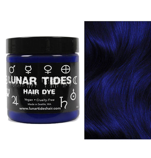 semi permanent hair dye in blue velvet