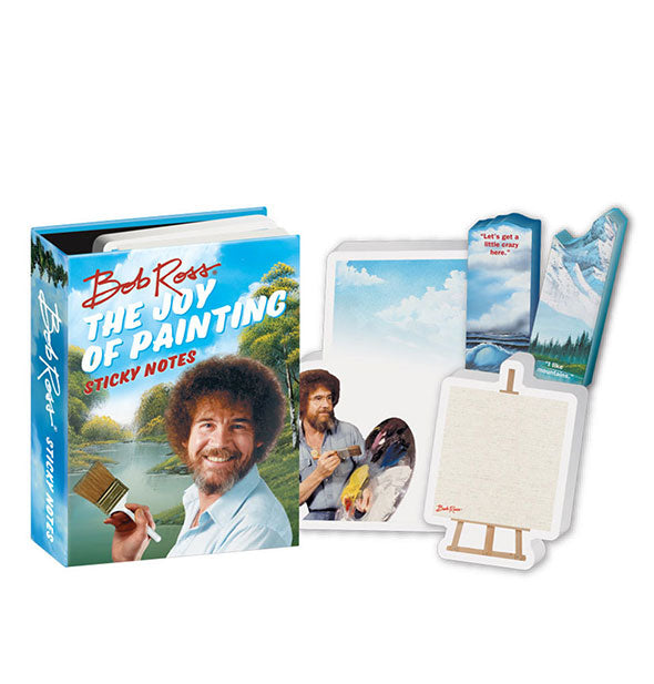 Bob Ross The Joy Of Painting Sticky Notes in various shapes and sizes