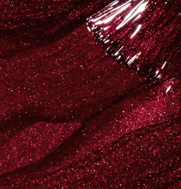wine red shimmery nail polish