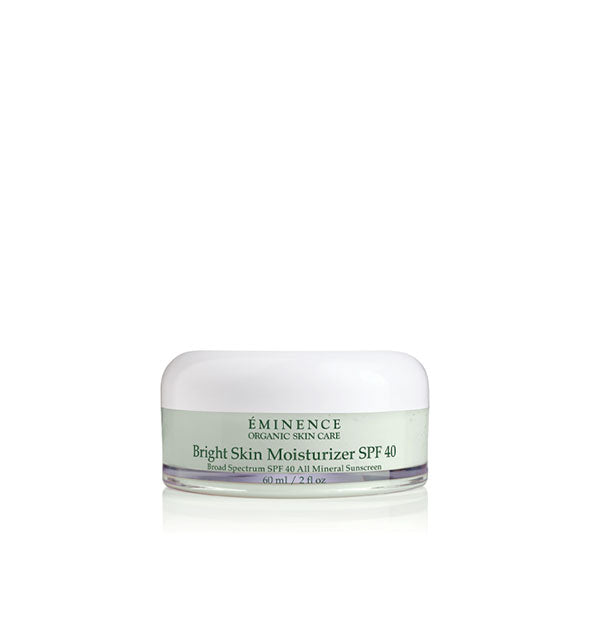 2-ounce pot of Eminence Bright Skin Moisturizer SPF 40