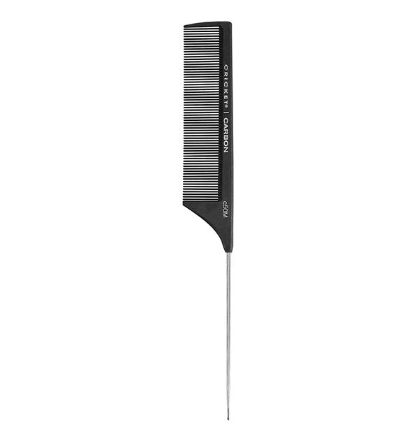 Black Carbon C50M Fine Toothed Metal Rat tail Comb