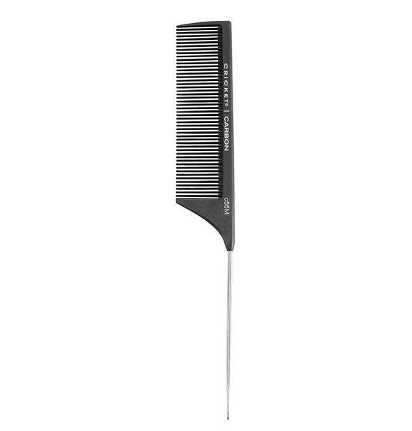 Black Carbon C55M Medium Toothed Metal Rat tail Comb