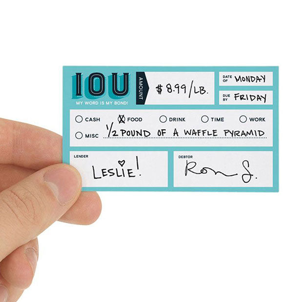 Fred - Carded Social Currency Cards: IOU (4460821020742)